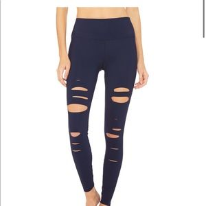 ALO High Waisted Ripped Warrior Leggings